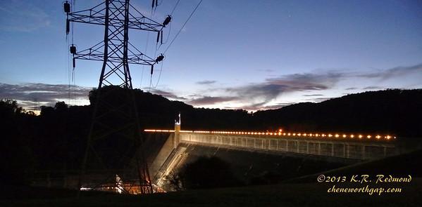 Norris Dam in Twilight